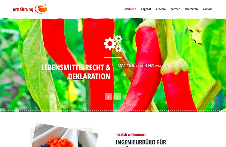 Referenz - ernährung e3, Ingenieurbüro für Ernährungswissenschaften